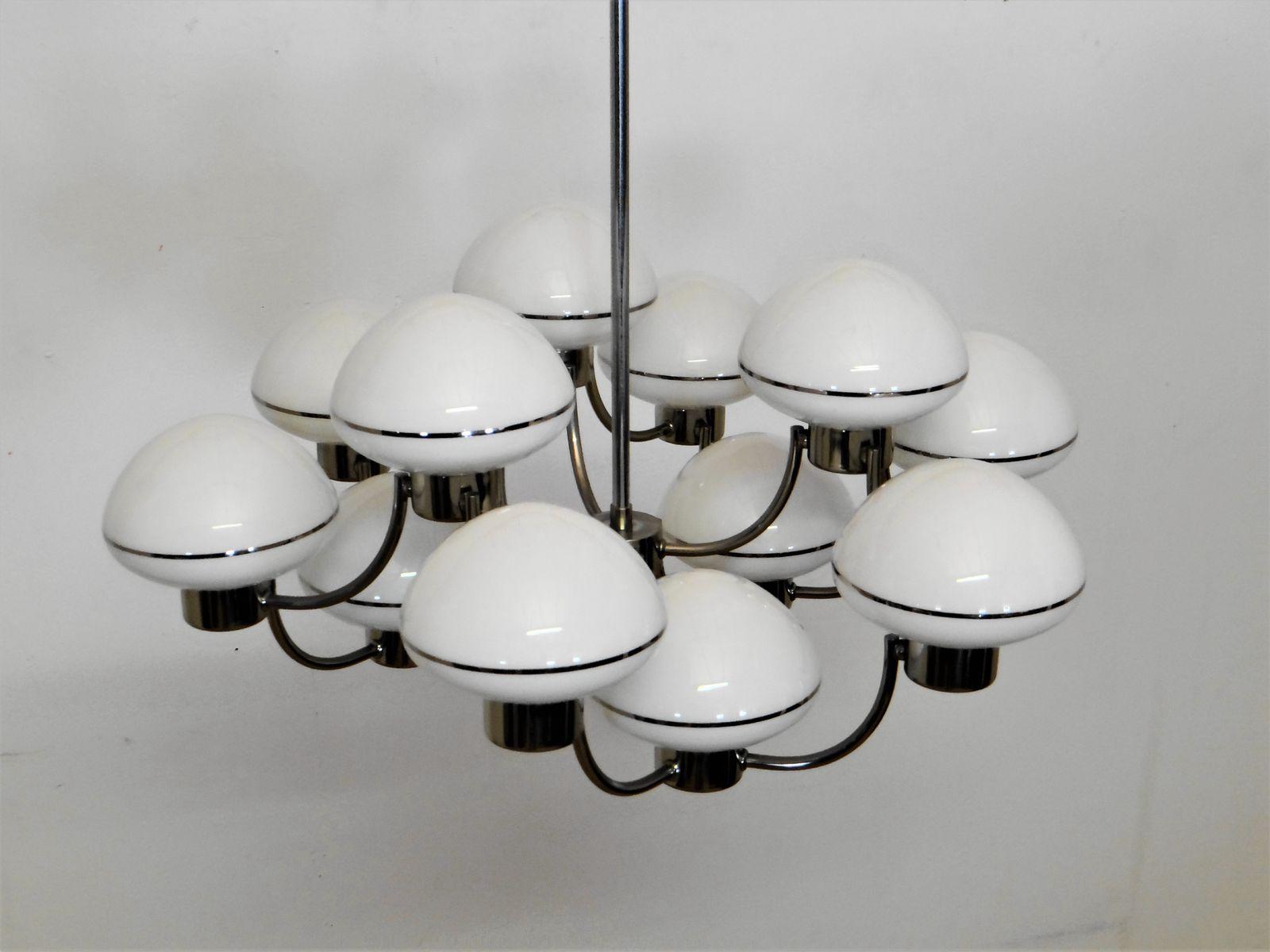 Vintage 12 ball chandelier by gaetano sciolari for sale at pamono vintage 12 ball chandelier by gaetano sciolari arubaitofo Images
