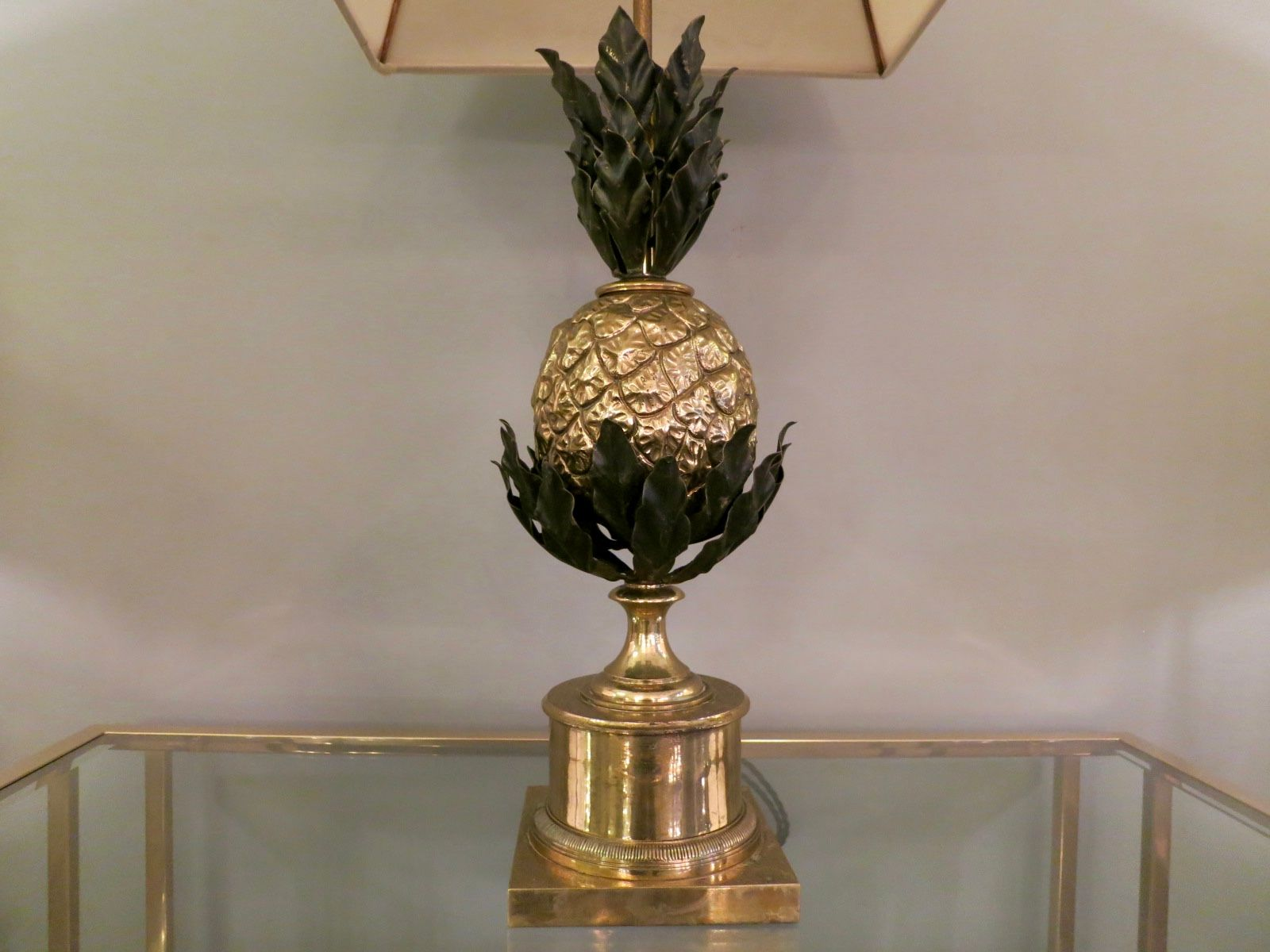 Pineapple table lamp by maison charles 1960s for sale at pamono aloadofball Choice Image