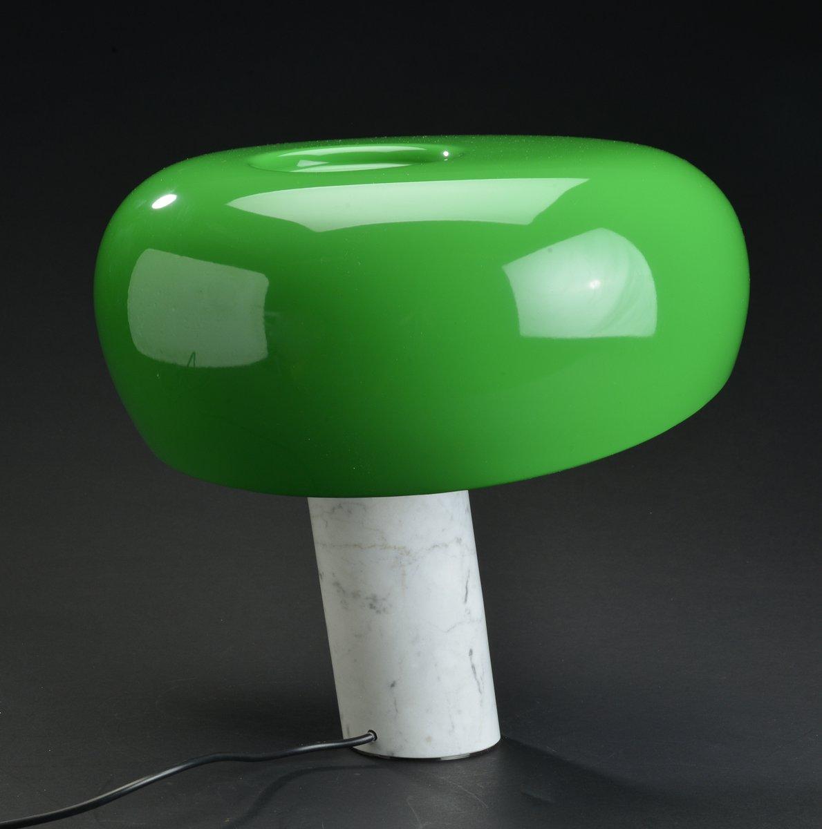 Lampada da tavolo Snoopy verde e bianca di Achille & Pier Giacomo Castiglioni per Flos, 1967 in ...