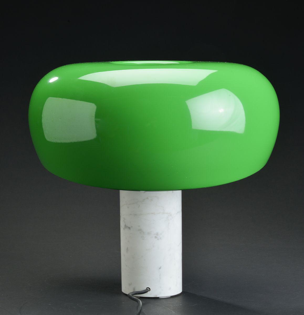 Lampada da tavolo snoopy verde e bianca di achille pier for Lampada di castiglioni prezzo