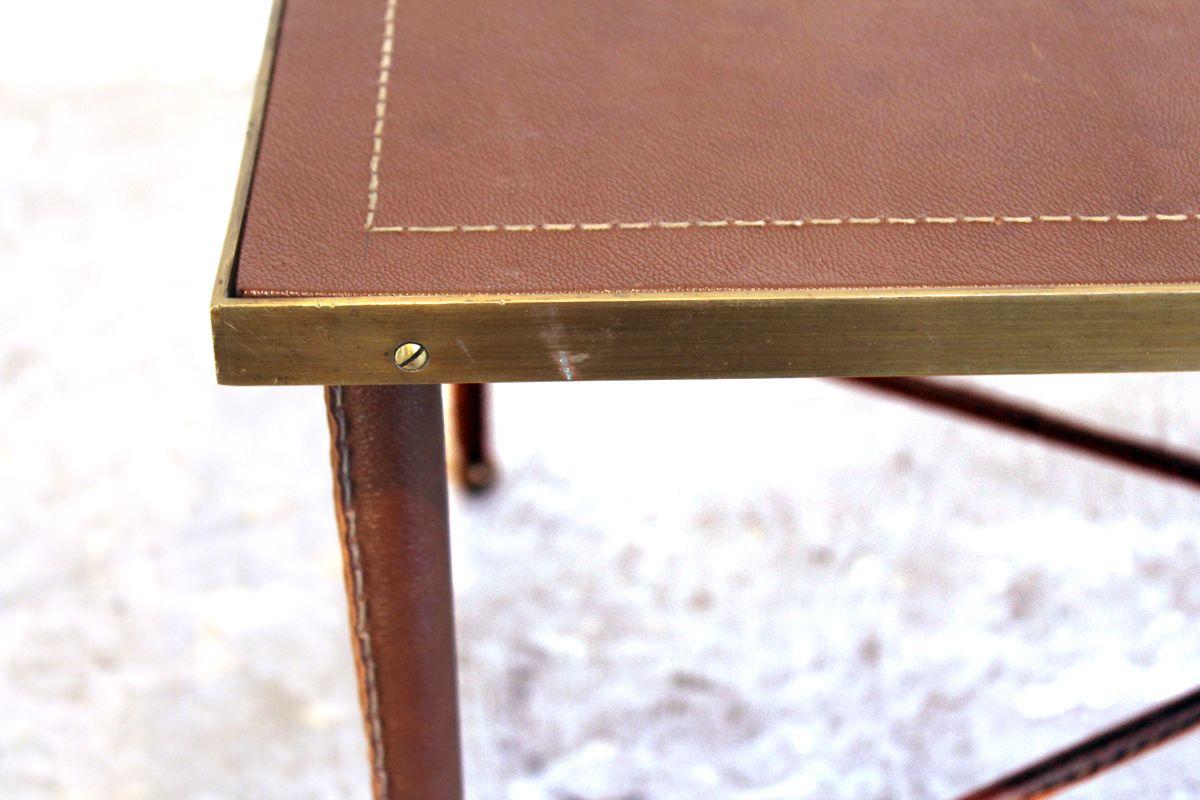 vintage couchtisch mit leder berzogen bei pamono kaufen. Black Bedroom Furniture Sets. Home Design Ideas