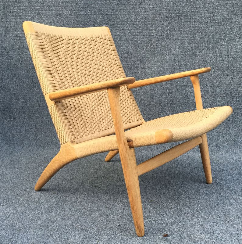 oak ch25 chair by hans j wegner for carl hansen son for sale at pamono. Black Bedroom Furniture Sets. Home Design Ideas