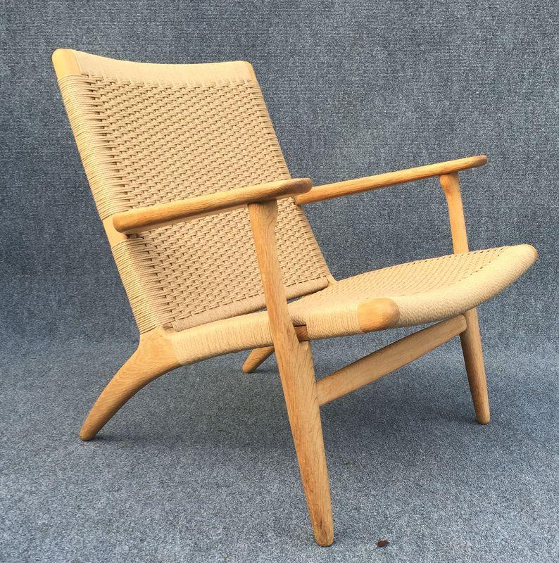 oak ch25 chair by hans j wegner for carl hansen son for sale at pamono. Black Bedroom Furniture Sets. Home Design Ideas