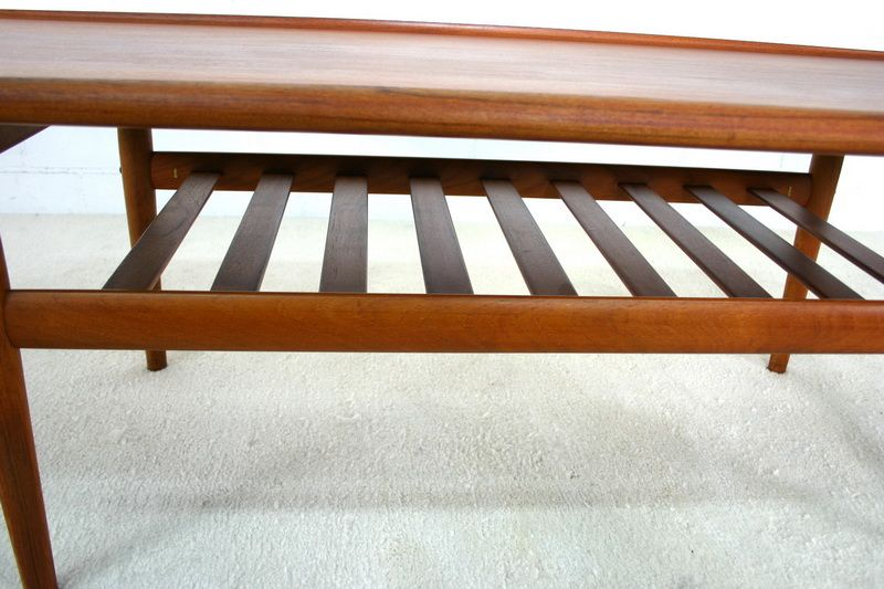 Danish solid teak coffee table by grete jalk for glostrup 1960s for sale at pamono Solid teak coffee table