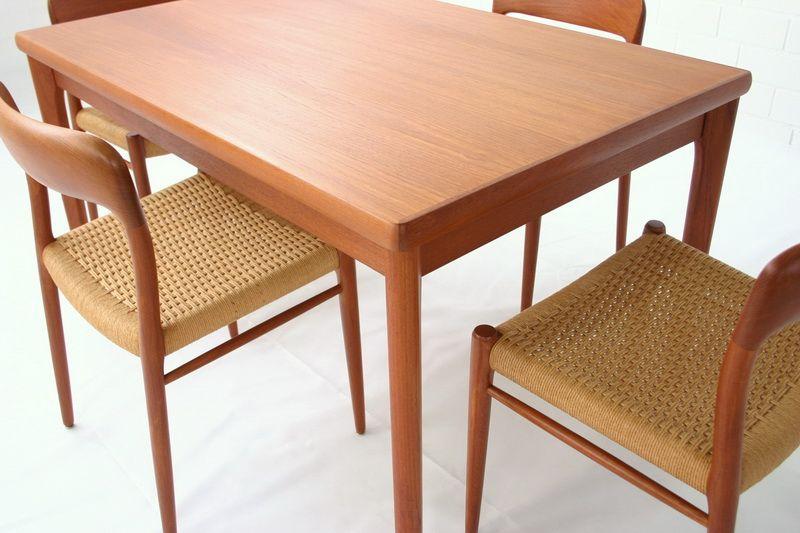 erweiterbarer teakholz esstisch von am denmark bei pamono kaufen. Black Bedroom Furniture Sets. Home Design Ideas