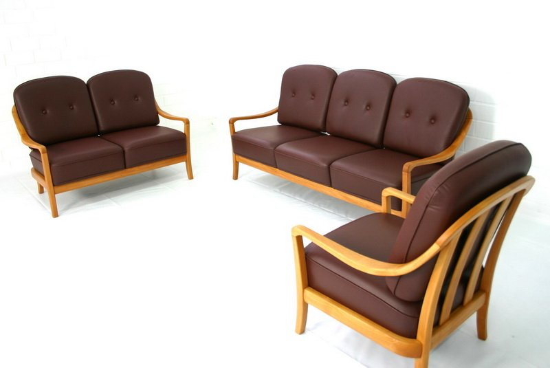vintage lounge chairs and sofa set from komfort for sale at pamono. Black Bedroom Furniture Sets. Home Design Ideas