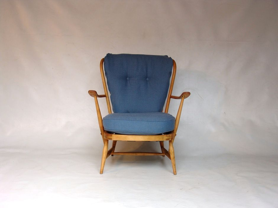 Vintage Blue Lounge Chair by Lucian Ercolani for Ercol for sale at Pamono