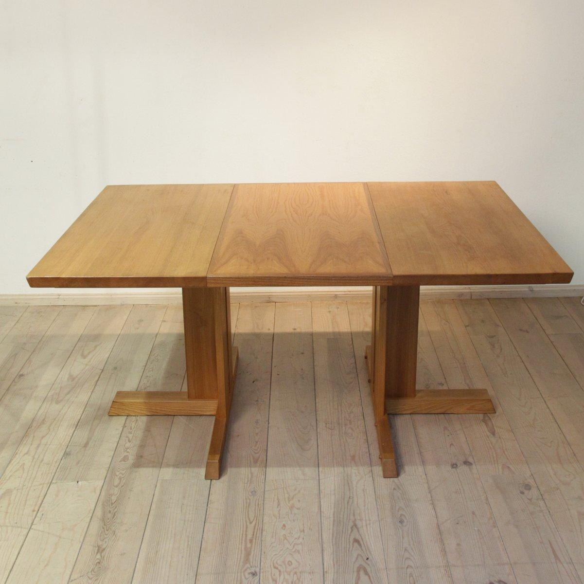 ausziehbarer eschenholz tisch 1970er bei pamono kaufen. Black Bedroom Furniture Sets. Home Design Ideas