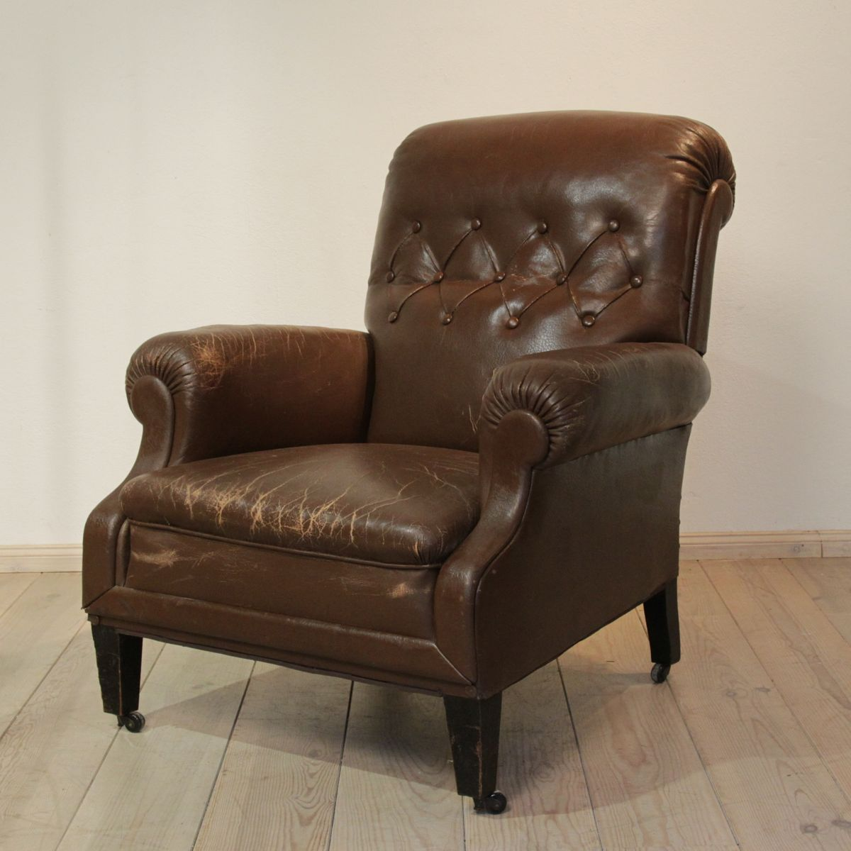 leather chair from berlin staatsbibliothek 1930s for sale. Black Bedroom Furniture Sets. Home Design Ideas