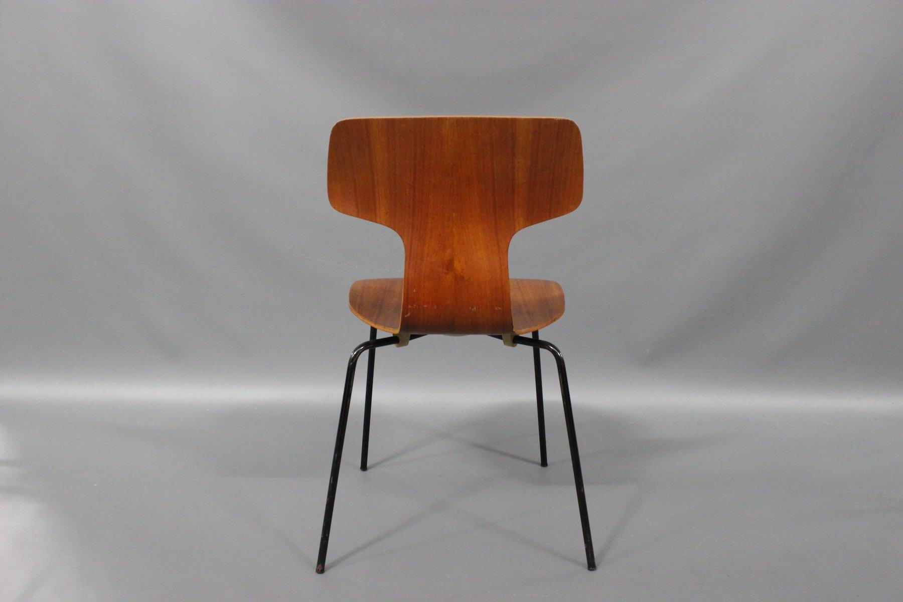 Model 3103 Teak Chair by Arne Jacobsen for Fritz Hansen 1970s for