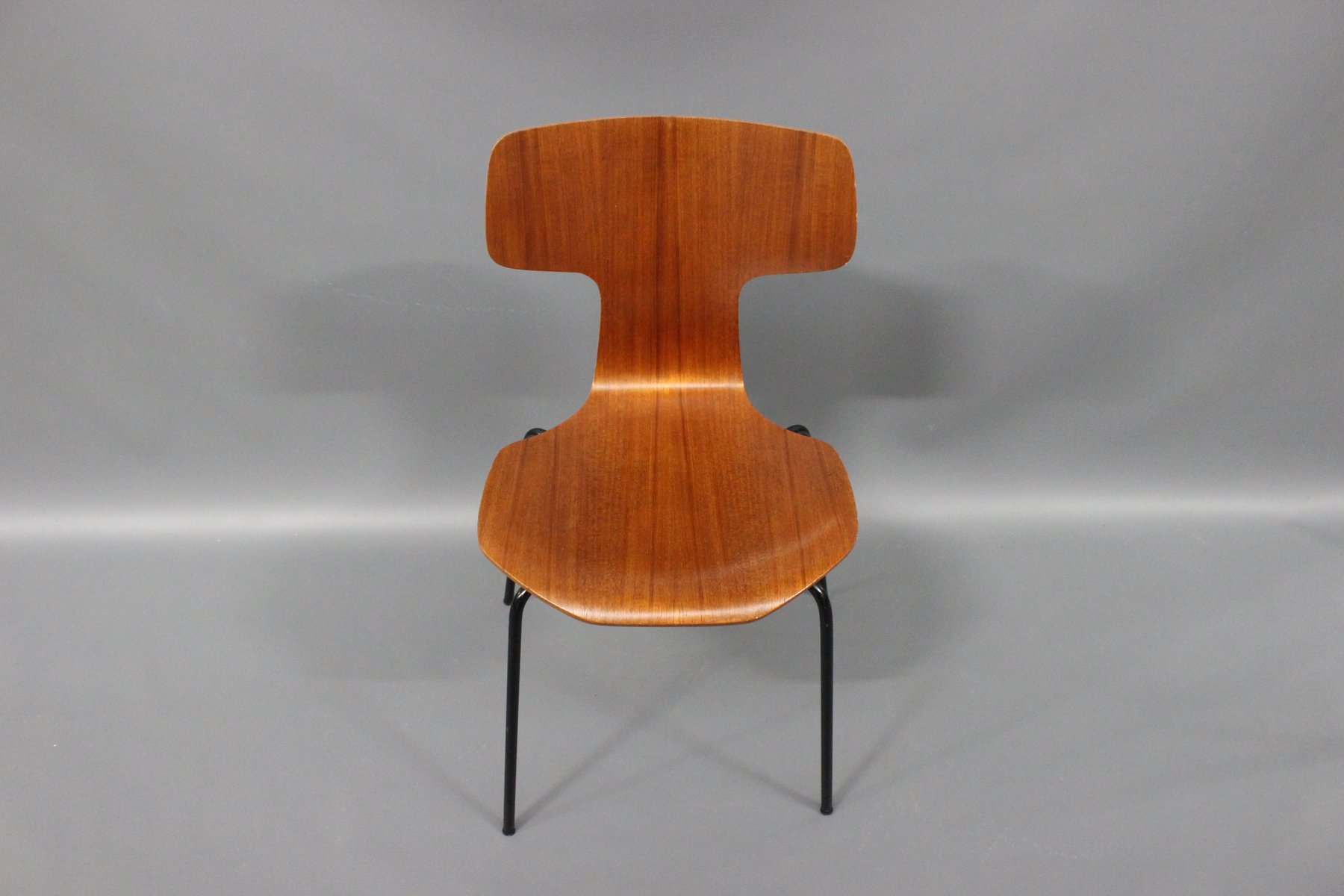 teak stuhl modell 3103 von arne jacobsen f r fritz hansen. Black Bedroom Furniture Sets. Home Design Ideas