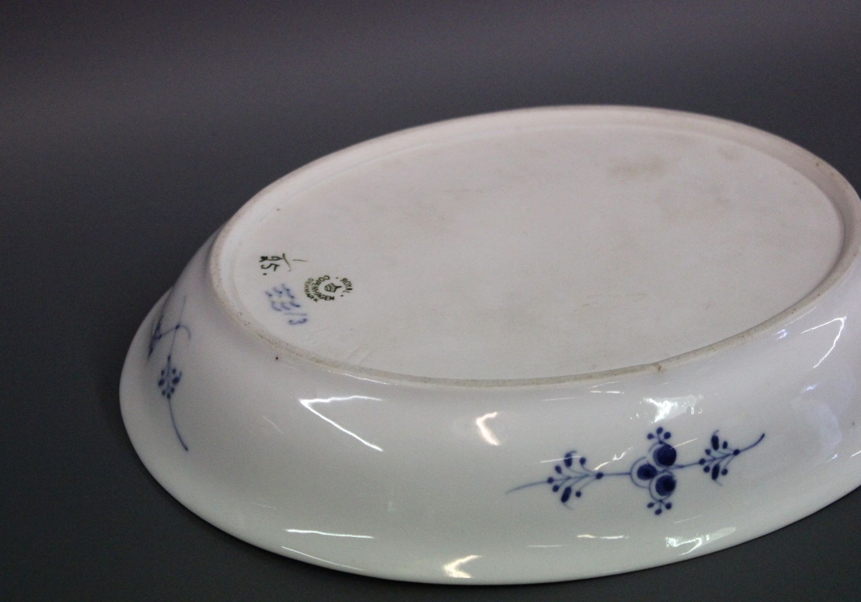 rounded fluted porcelain dish by royal copenhagen for sale. Black Bedroom Furniture Sets. Home Design Ideas