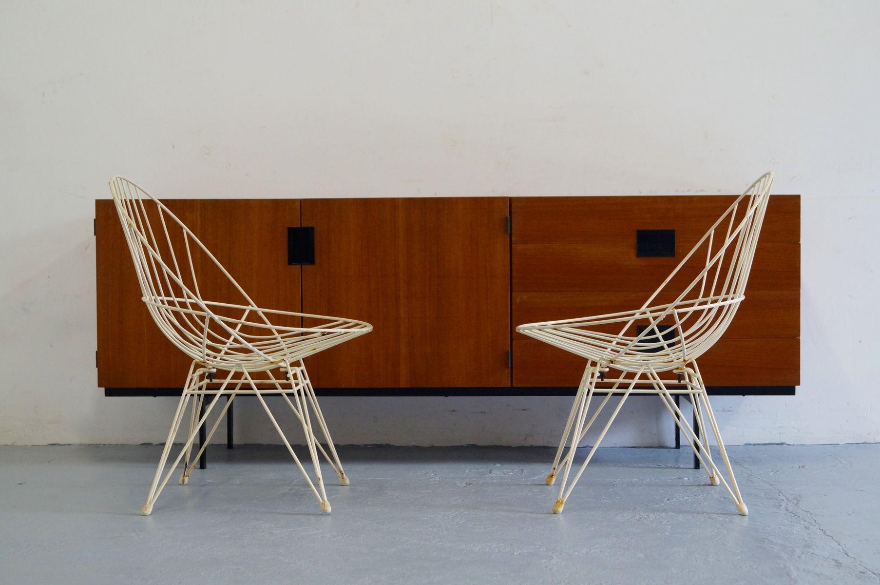 Vintage draht stuhl der combex serie von cees braakman f r for Design stuhl draht