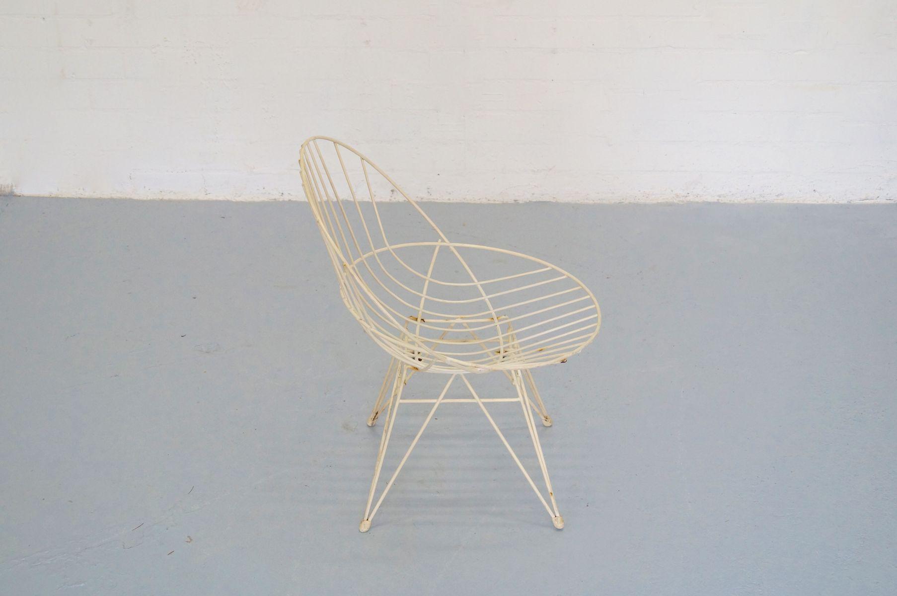 Vintage draht stuhl der combex serie von cees braakman f r for Draht stuhl design