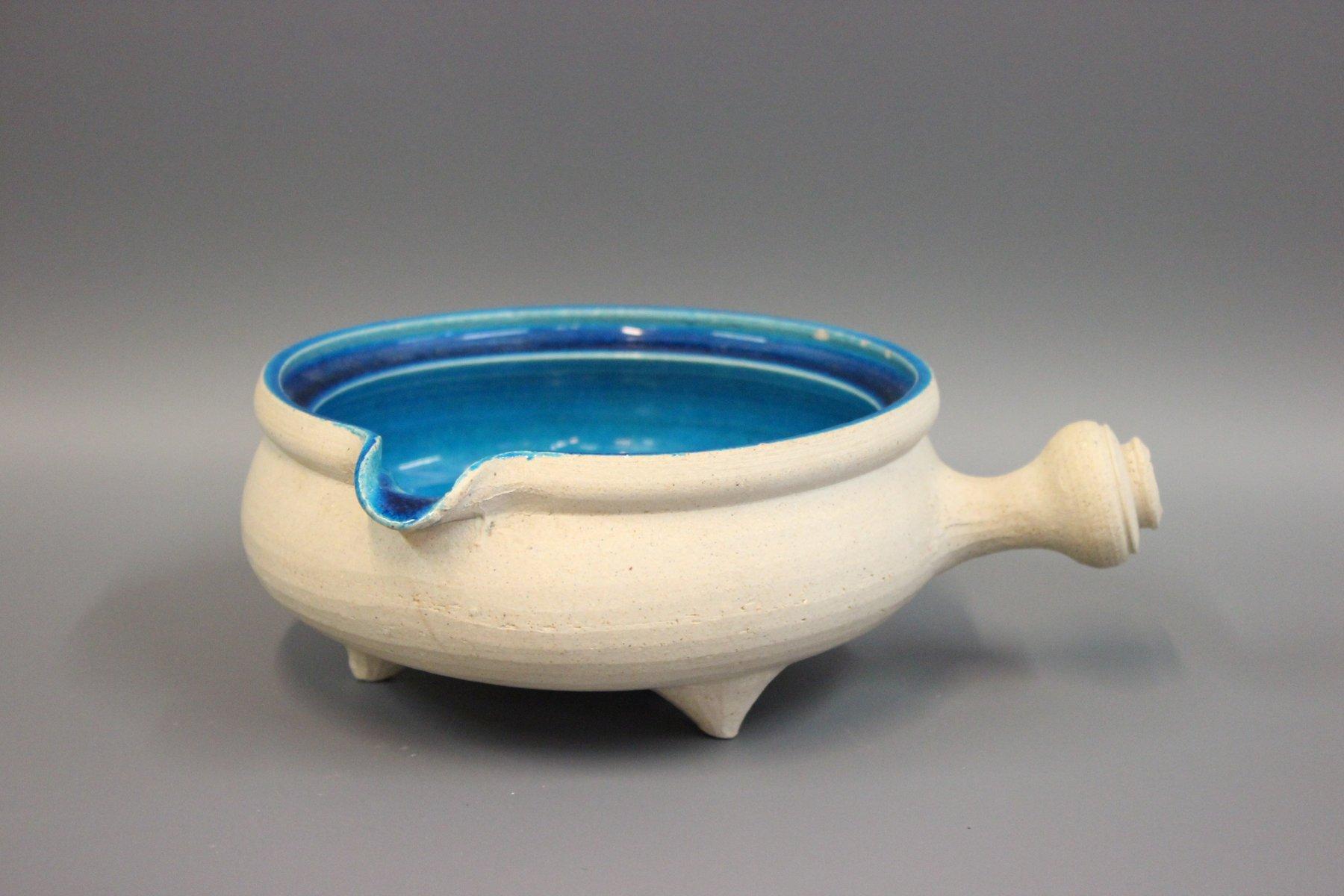 blau glasierte sch ssel aus keramik von herman k hler bei pamono kaufen. Black Bedroom Furniture Sets. Home Design Ideas