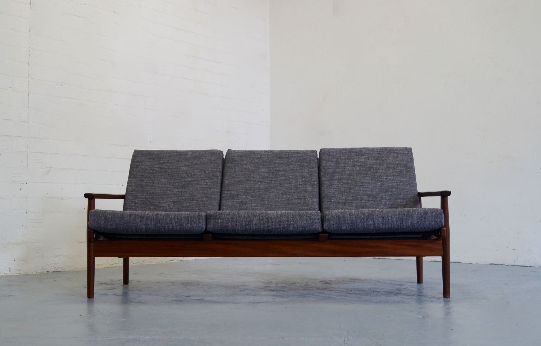 Vintage Three Seater Teak Sofa From De Ster Gelderland For Sale At Pamono