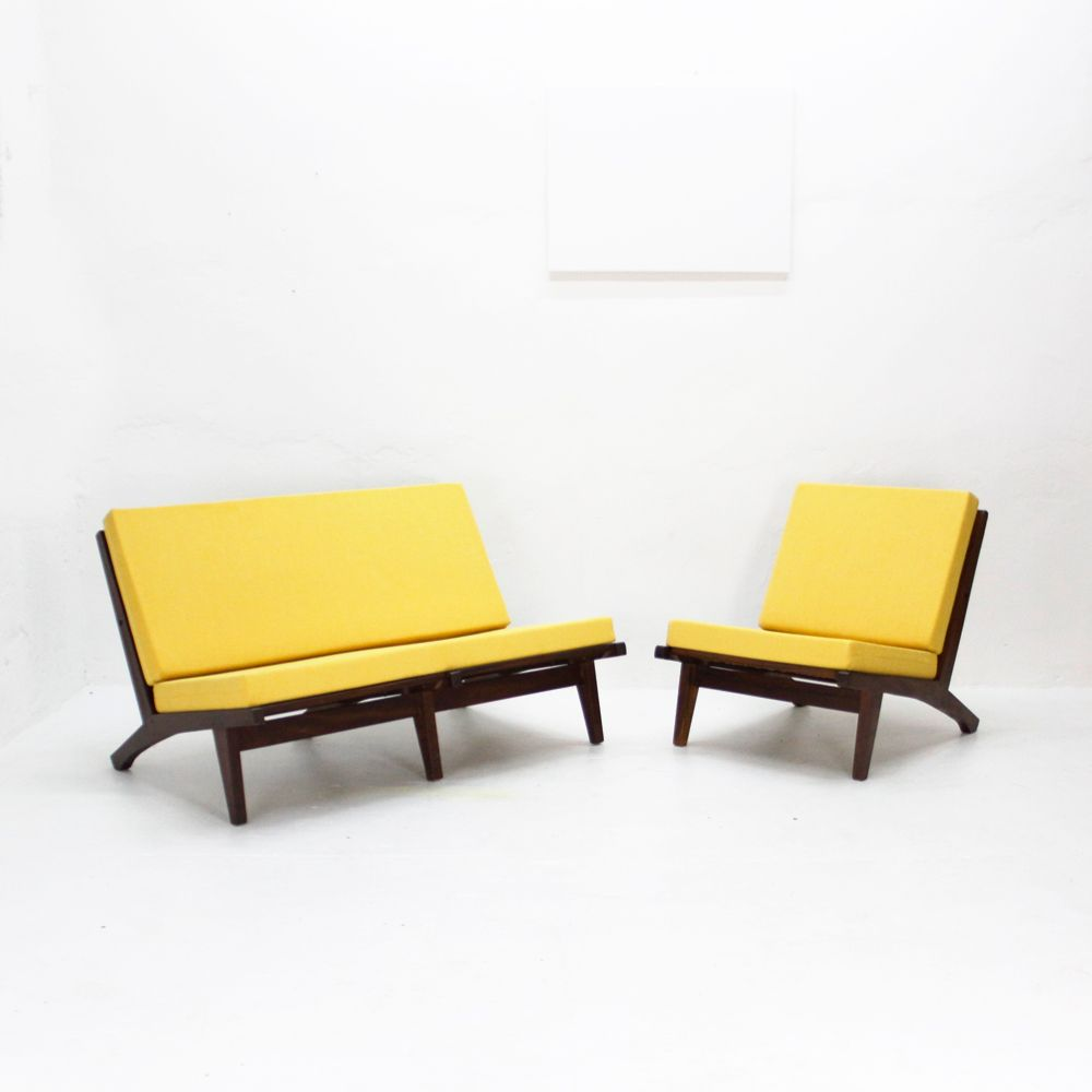 Vintage Yellow Two Seater Sofa For Sale At Pamono