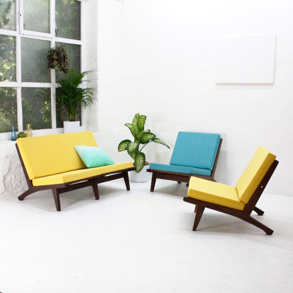 Vintage sessel in gelb bei pamono kaufen for Design sessel nachbau