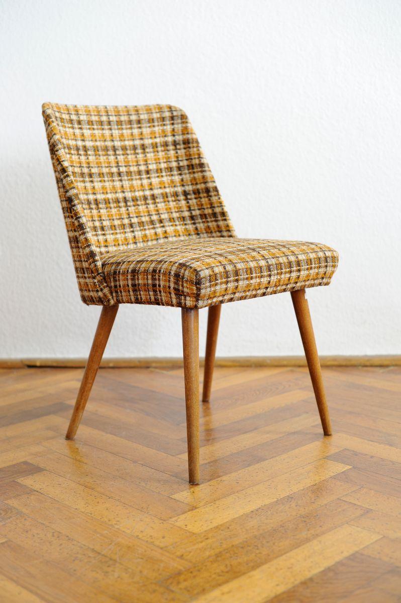 karierter mid century sessel bei pamono kaufen. Black Bedroom Furniture Sets. Home Design Ideas