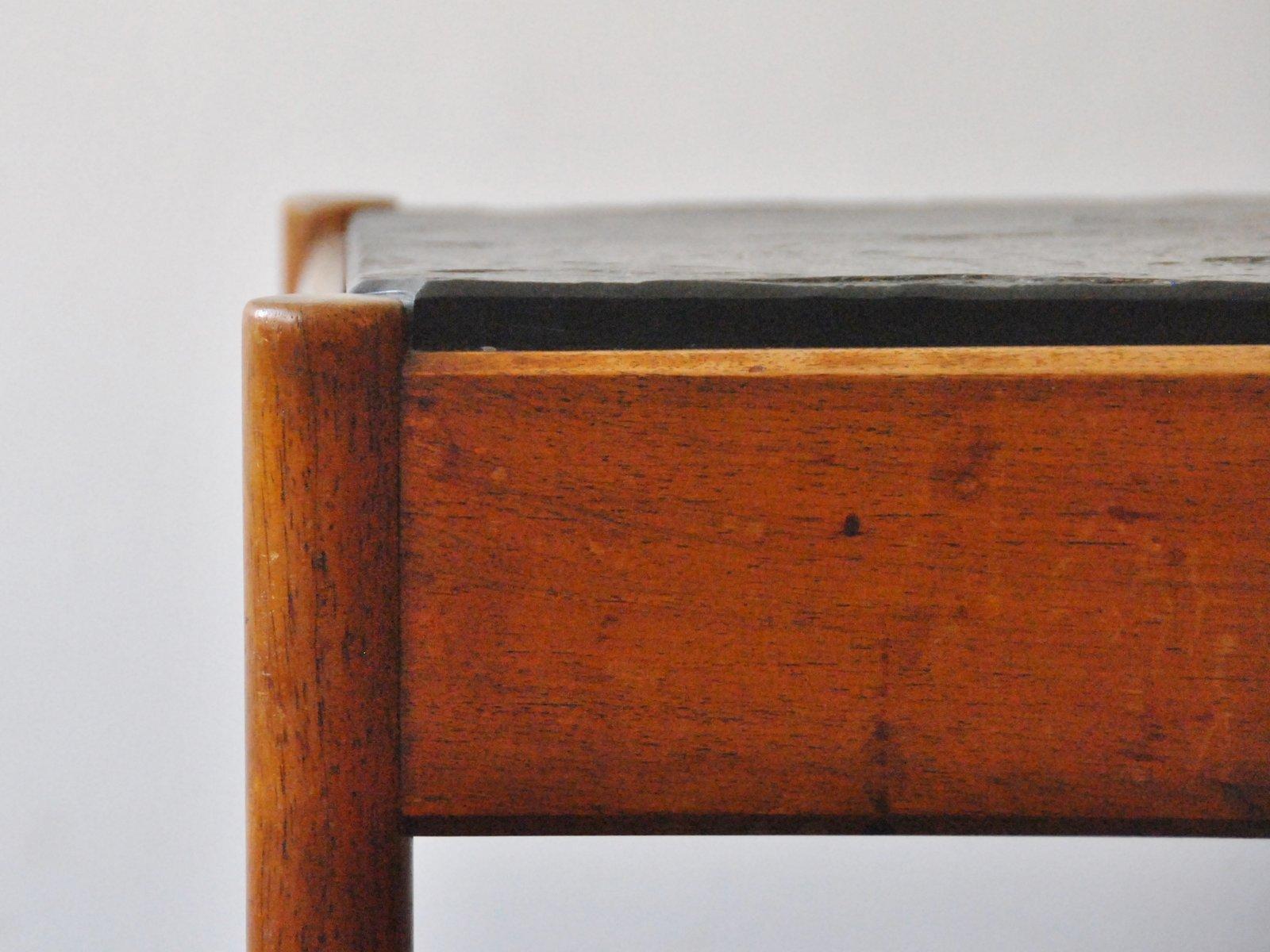 mid century steinfliesen couchtisch bei pamono kaufen. Black Bedroom Furniture Sets. Home Design Ideas