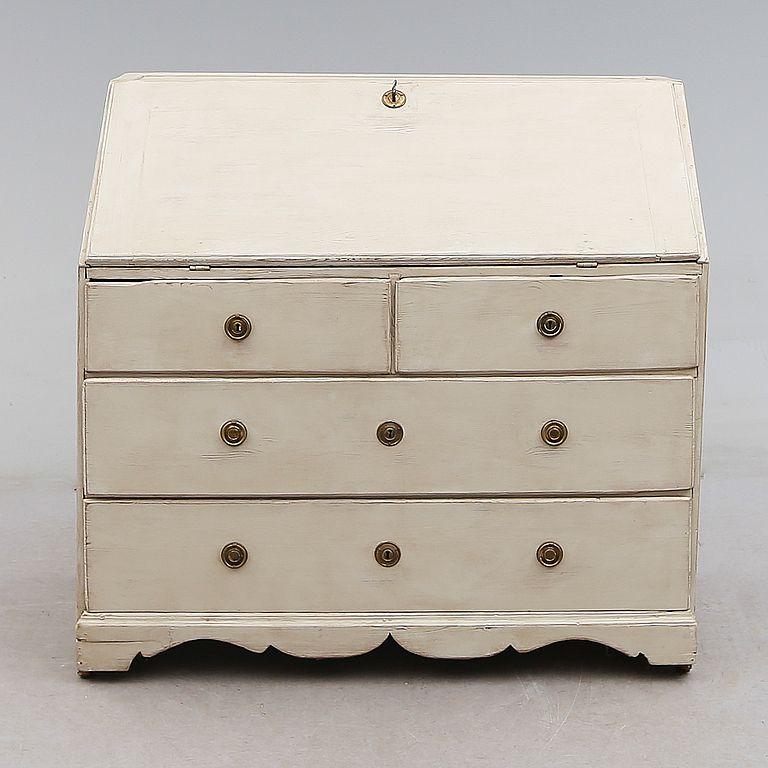 wei er gustavian schreibtisch 1800er bei pamono kaufen. Black Bedroom Furniture Sets. Home Design Ideas