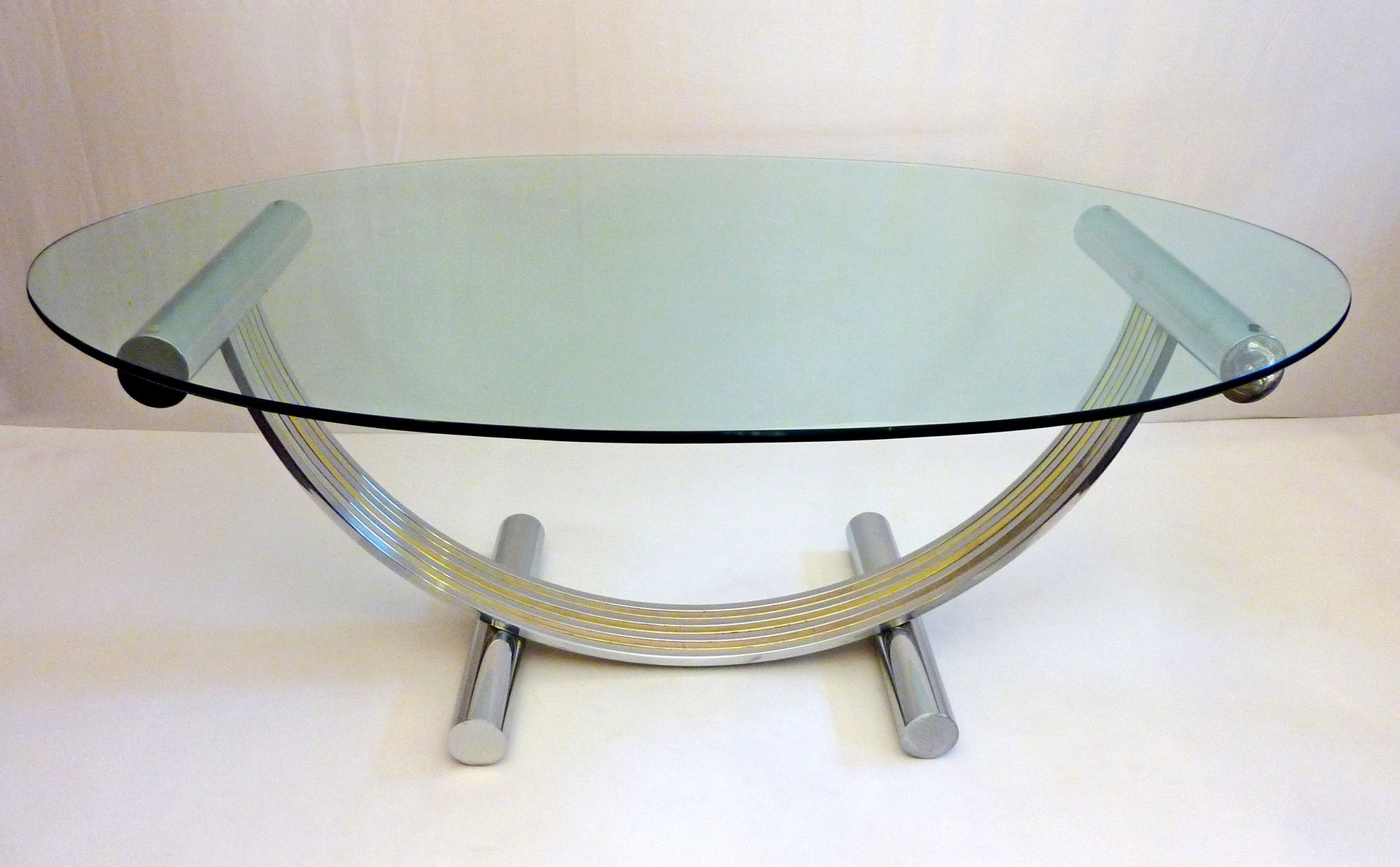 Oval Glass Dining Table by Romeo Rega 1970s for sale at  : oval glass dining table by romeo rega 1970s 2 from www.pamono.com size 1920 x 1189 jpeg 169kB