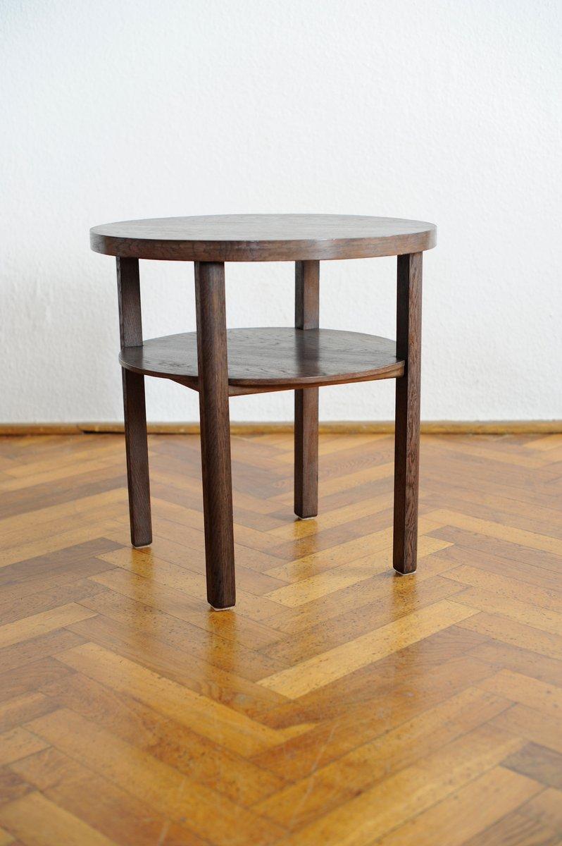 zweist ckiger runder art deco beistelltisch bei pamono kaufen. Black Bedroom Furniture Sets. Home Design Ideas