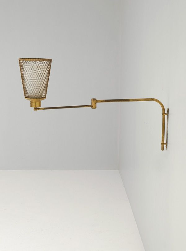 Wall Mounted Swivel Lamps : Swivel Wall Lamp, 1950s for sale at Pamono