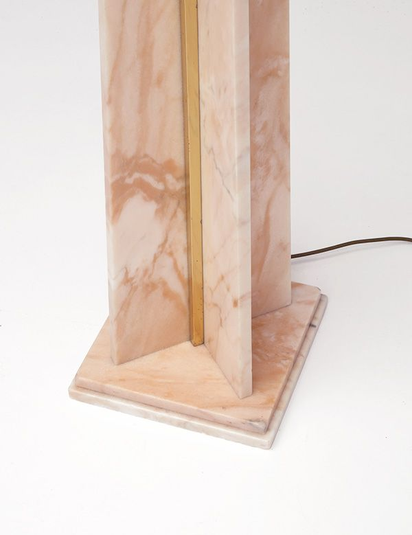 Pink marble floor lamp for sale at pamono for Pink floor reading lamp