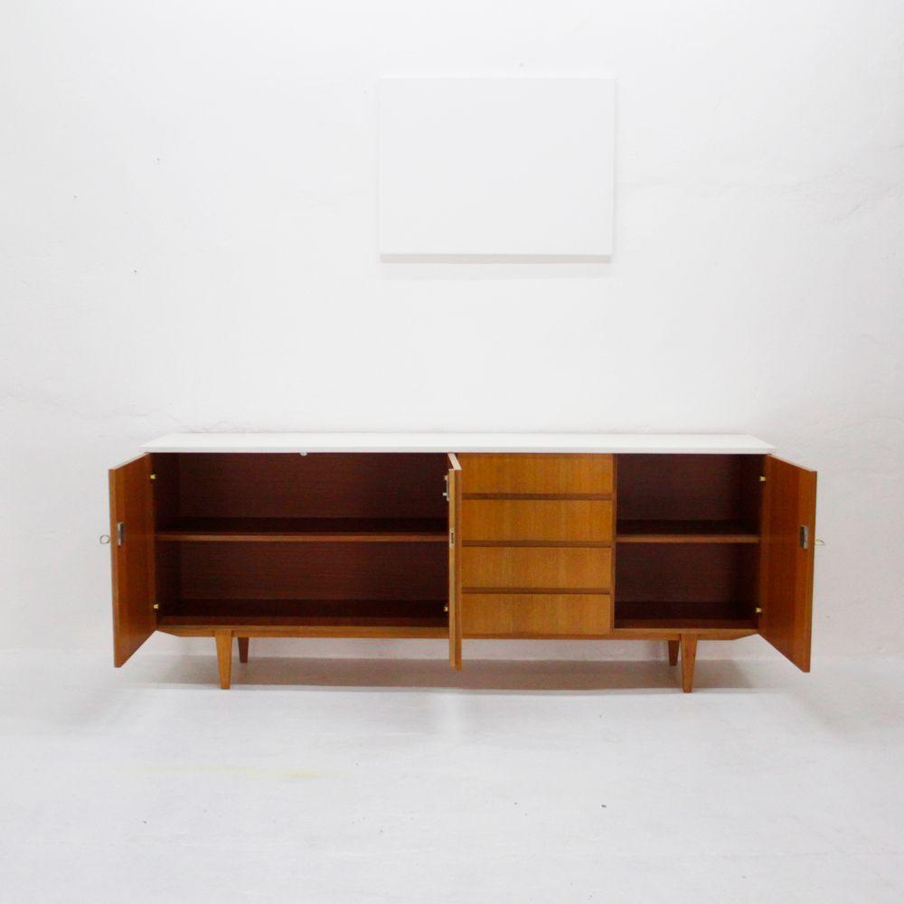 wei es eschenholz sideboard 1960er bei pamono kaufen. Black Bedroom Furniture Sets. Home Design Ideas