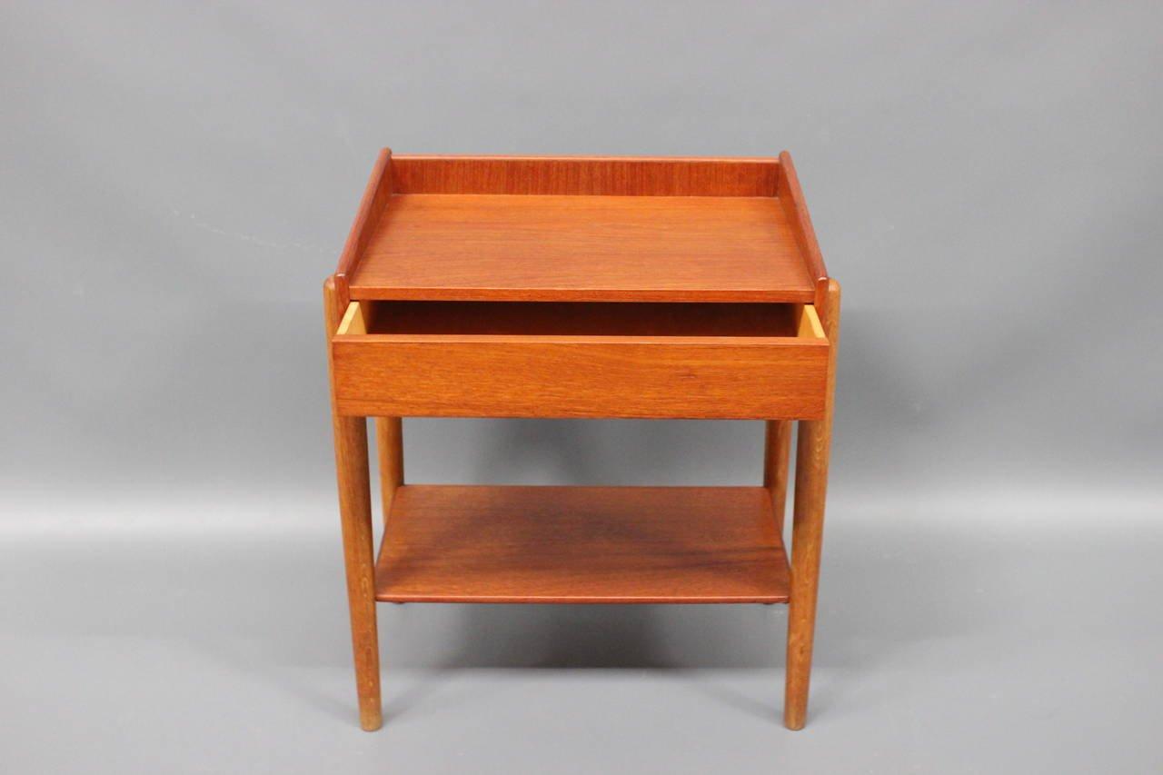 Teak Oak Bedside Tables By B Rge Mogensen For S Borg