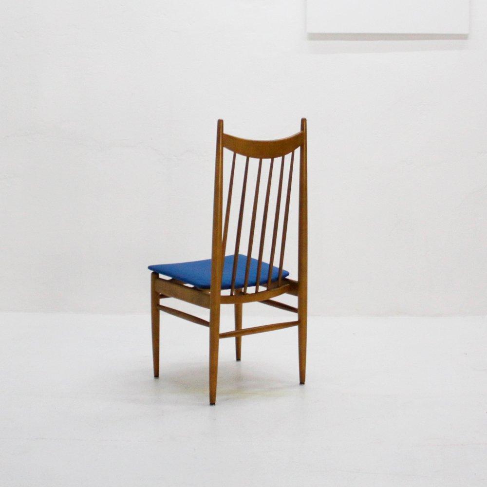 nussholz esszimmerst hle 1950er 6er set bei pamono kaufen. Black Bedroom Furniture Sets. Home Design Ideas