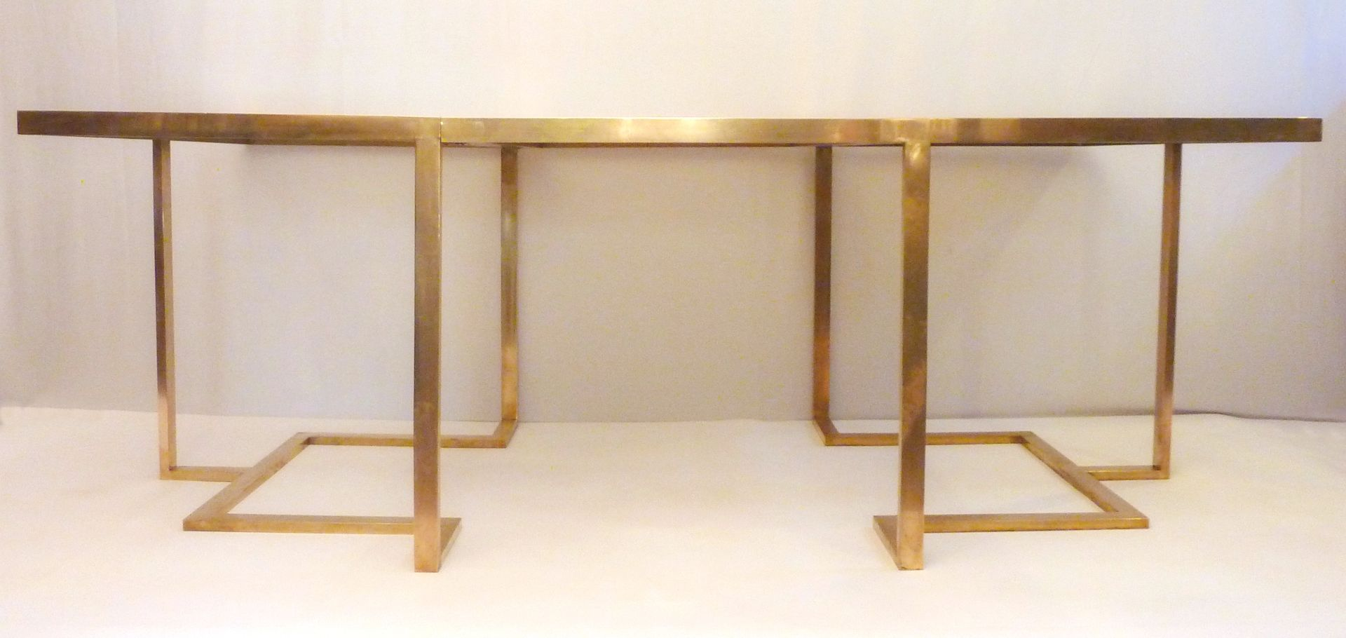 Italian Extendable Dining Table Italian Extendable Brass Dining Table For Sale At Pamono