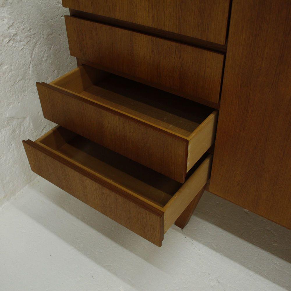 langes teak sideboard 1960er bei pamono kaufen. Black Bedroom Furniture Sets. Home Design Ideas