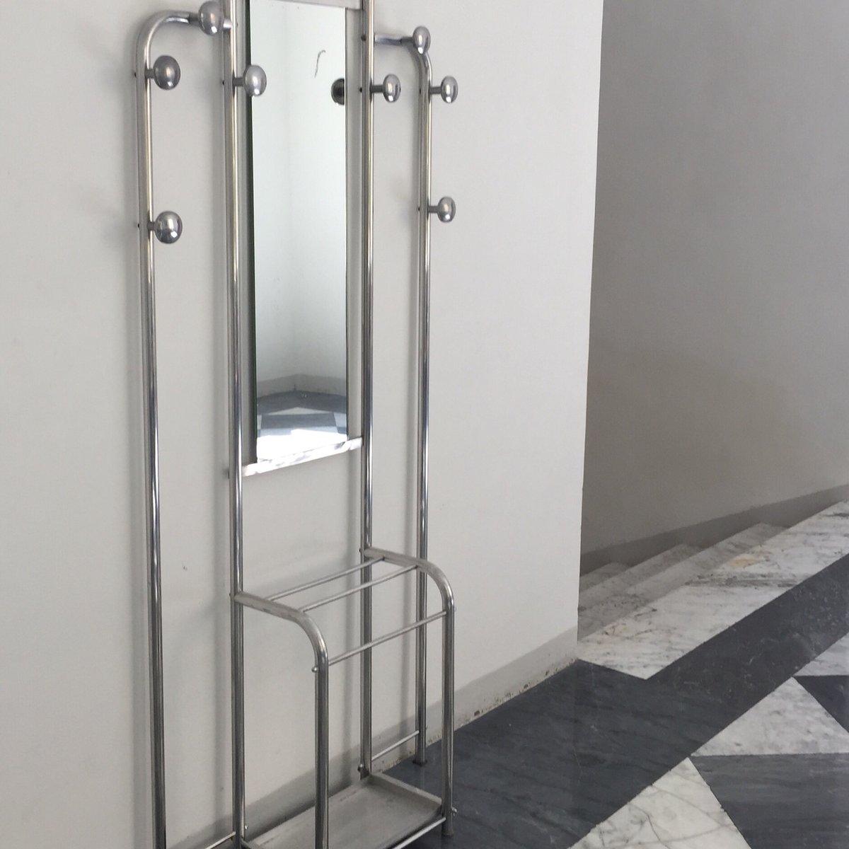 vintage bauhaus garderobe aus metall glas bei pamono kaufen. Black Bedroom Furniture Sets. Home Design Ideas