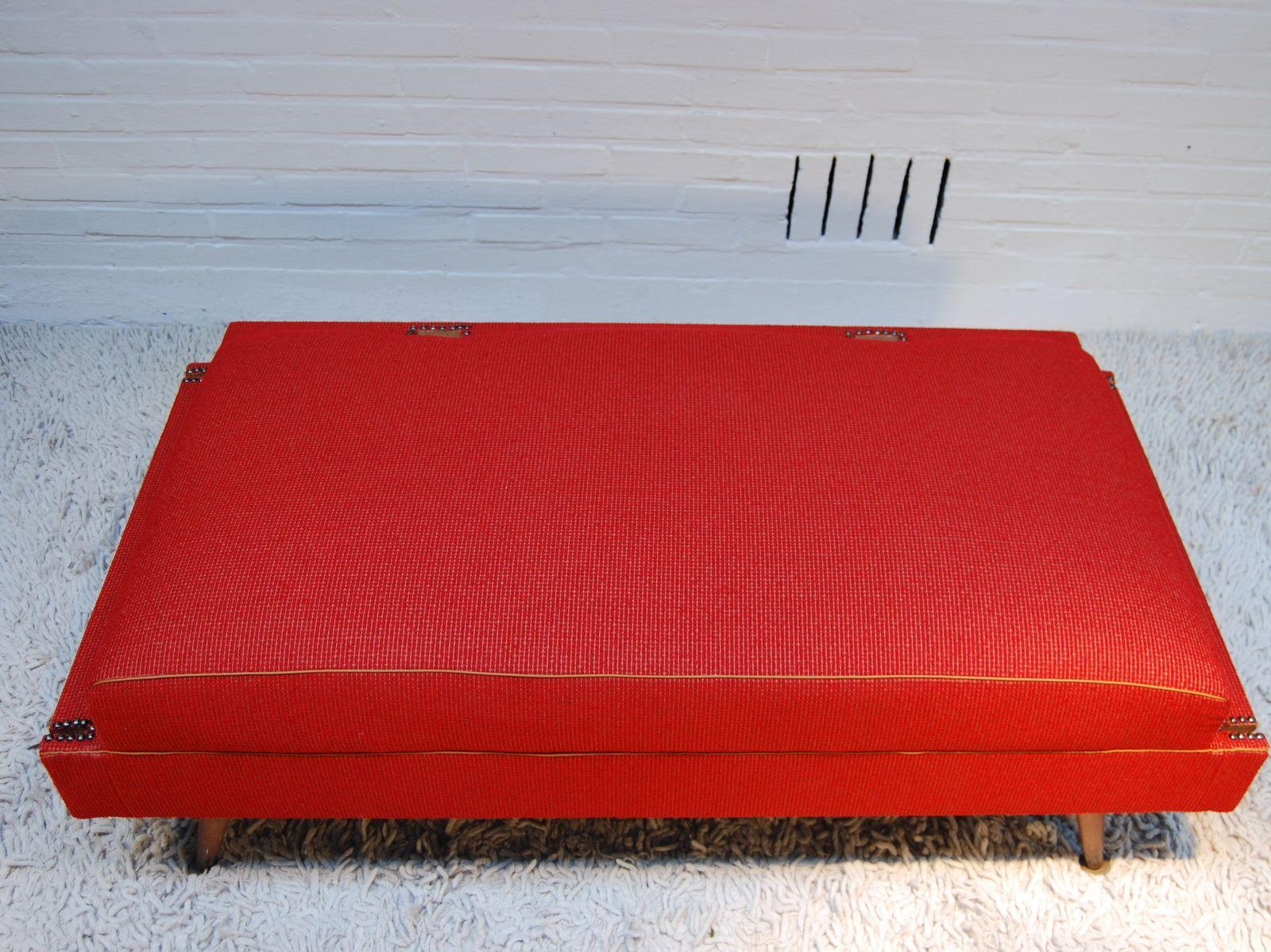 mid century stoff bank 1950er bei pamono kaufen. Black Bedroom Furniture Sets. Home Design Ideas