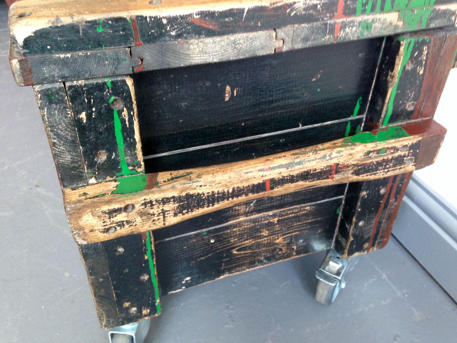 Industrie Couchtisch mit Aufbewahrungsbox bei Pamono kaufen