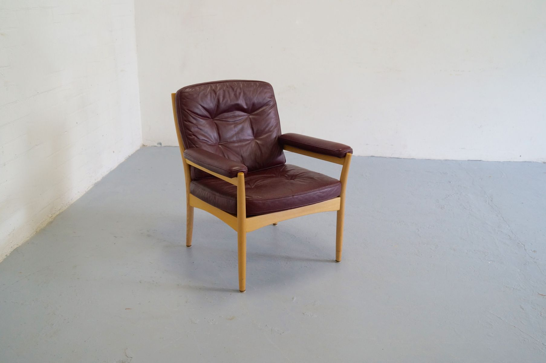 mid century scandinavian lounge chair from g m bel 1970s for sale at pamono. Black Bedroom Furniture Sets. Home Design Ideas