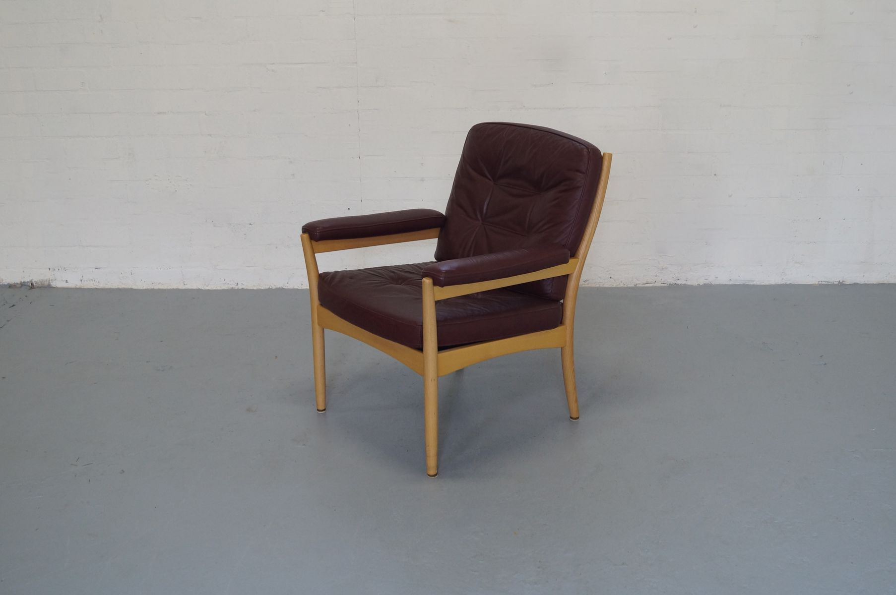 mid century scandinavian lounge chair from g m bel 1970s. Black Bedroom Furniture Sets. Home Design Ideas