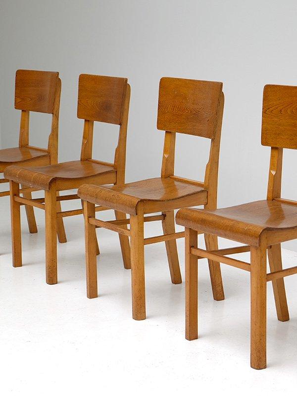 sperrholz restaurant st hle 6er set bei pamono kaufen. Black Bedroom Furniture Sets. Home Design Ideas