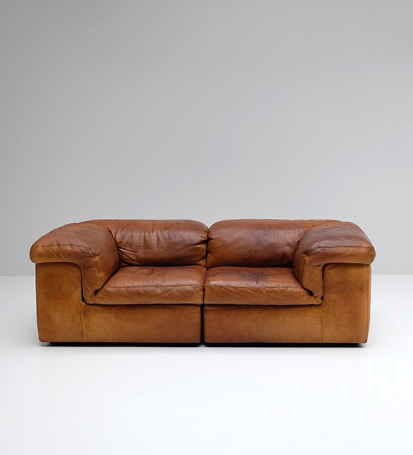 2 Seater Belgian Leather Sofa From Durlet For Sale At Pamono