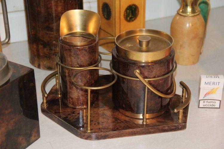 Mid century italian design kitchen set by aldo tura for for Italian kitchen set