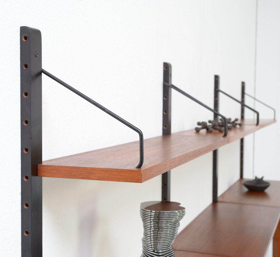 wandregal von p cadovius f r royal system denmark 1965 bei pamono kaufen. Black Bedroom Furniture Sets. Home Design Ideas