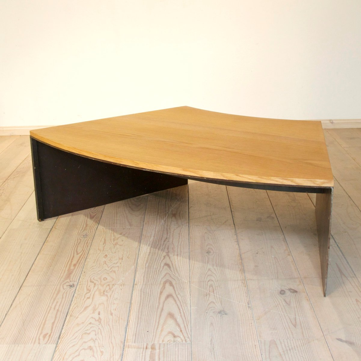Vintage Metal And Oak Coffee Table For Sale At Pamono