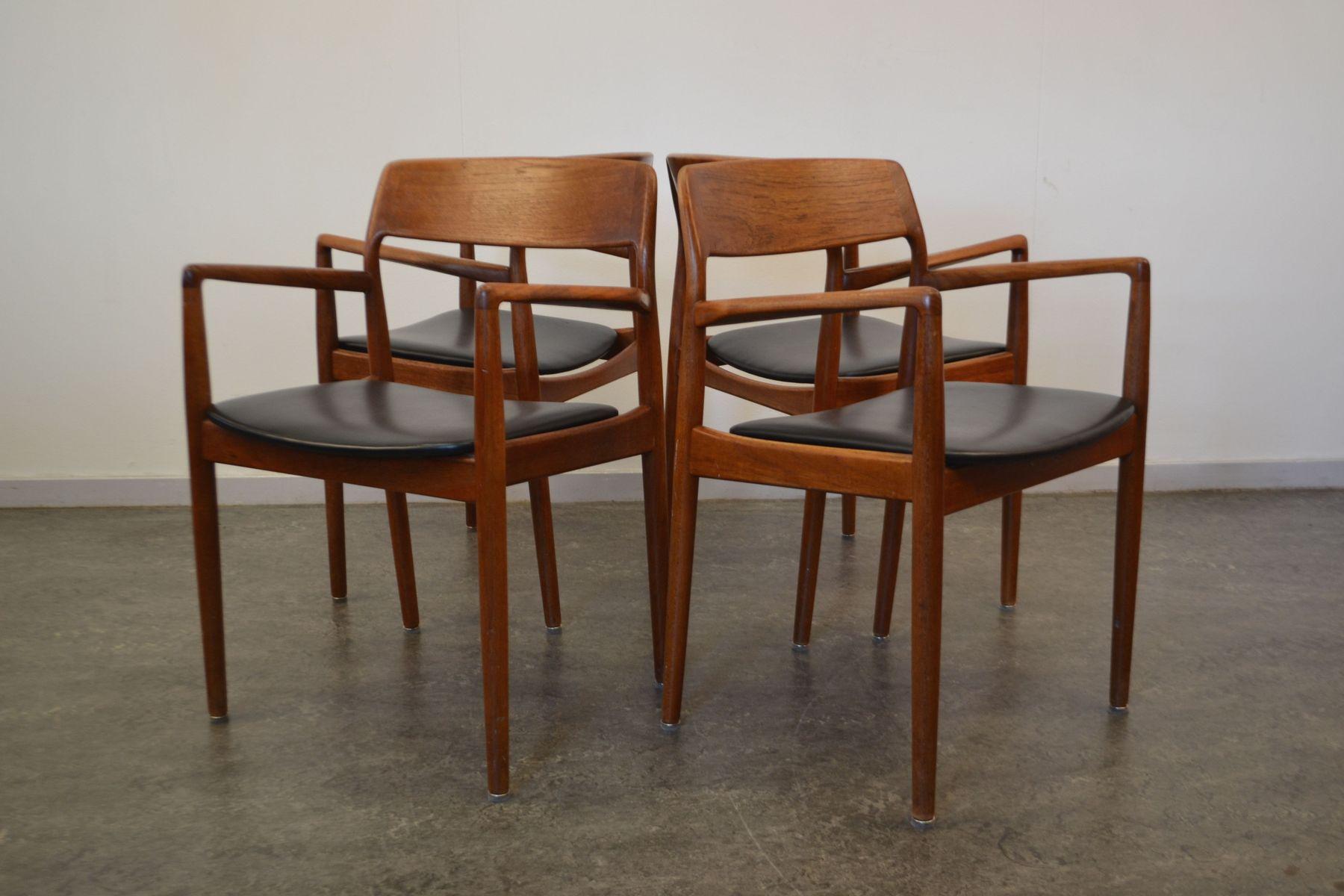 d nische vintage teak esszimmerst hle 4er set bei pamono kaufen. Black Bedroom Furniture Sets. Home Design Ideas