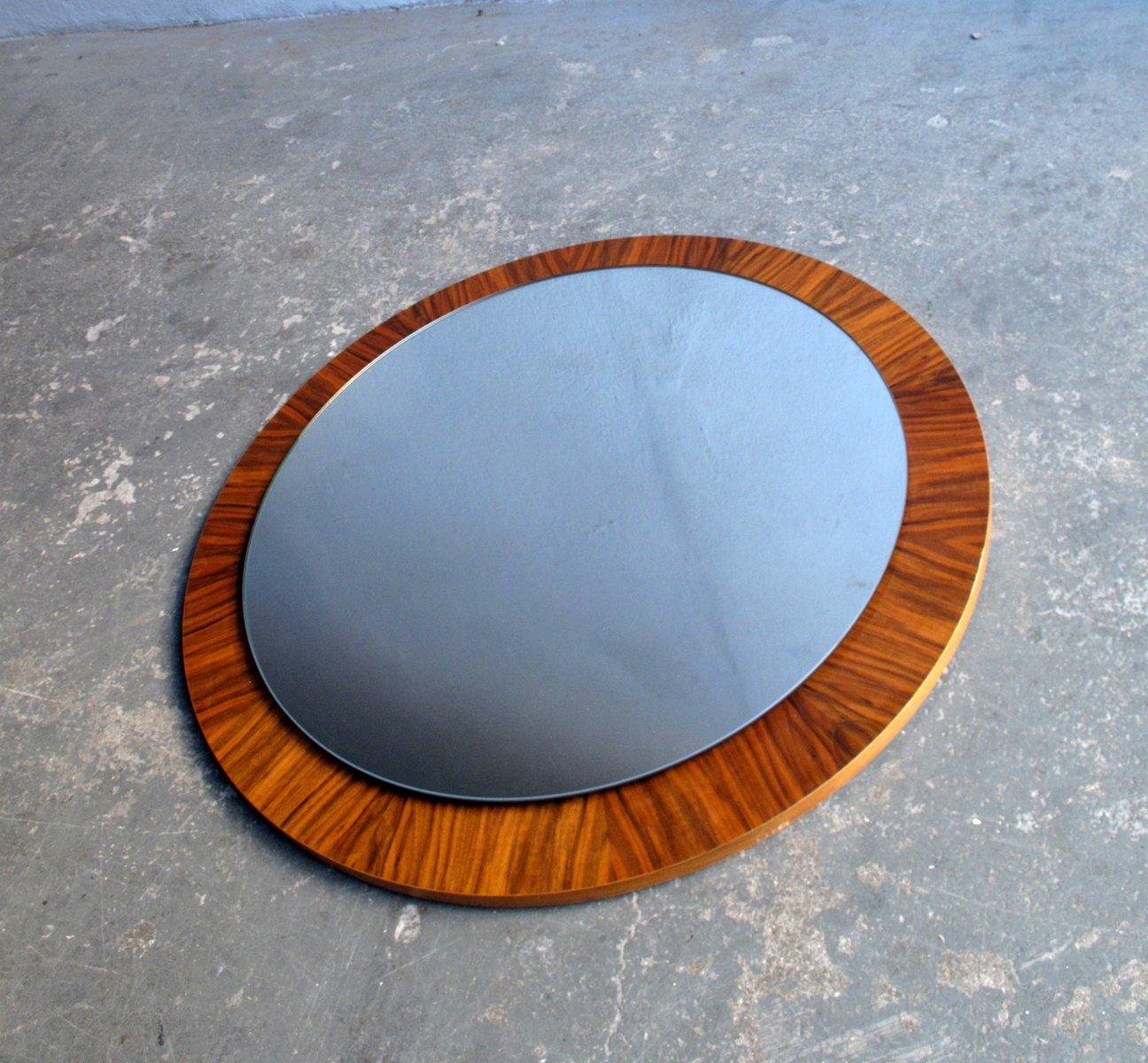 vintage iris spiegel in furniertem holzrahmen bei pamono kaufen. Black Bedroom Furniture Sets. Home Design Ideas