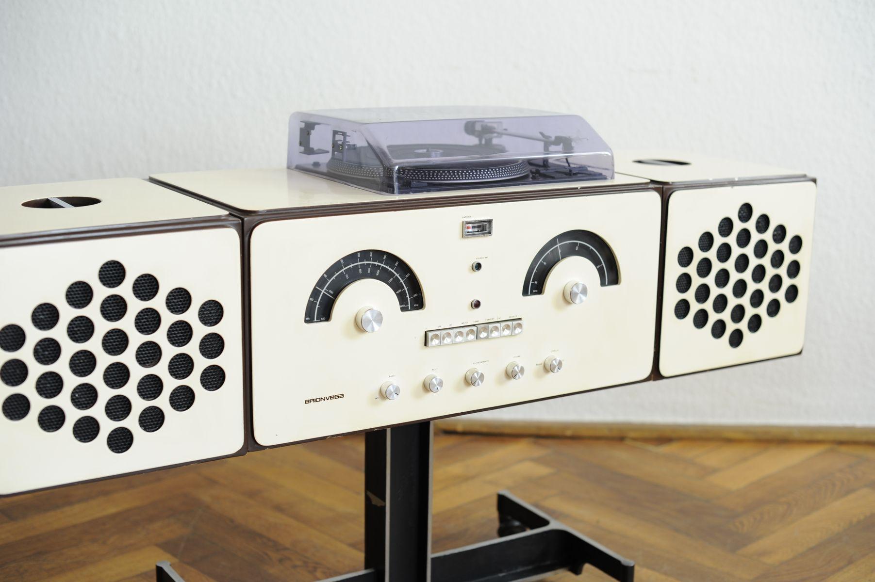 Vintage Brionvega Rr 126 Fo St Design Record Player