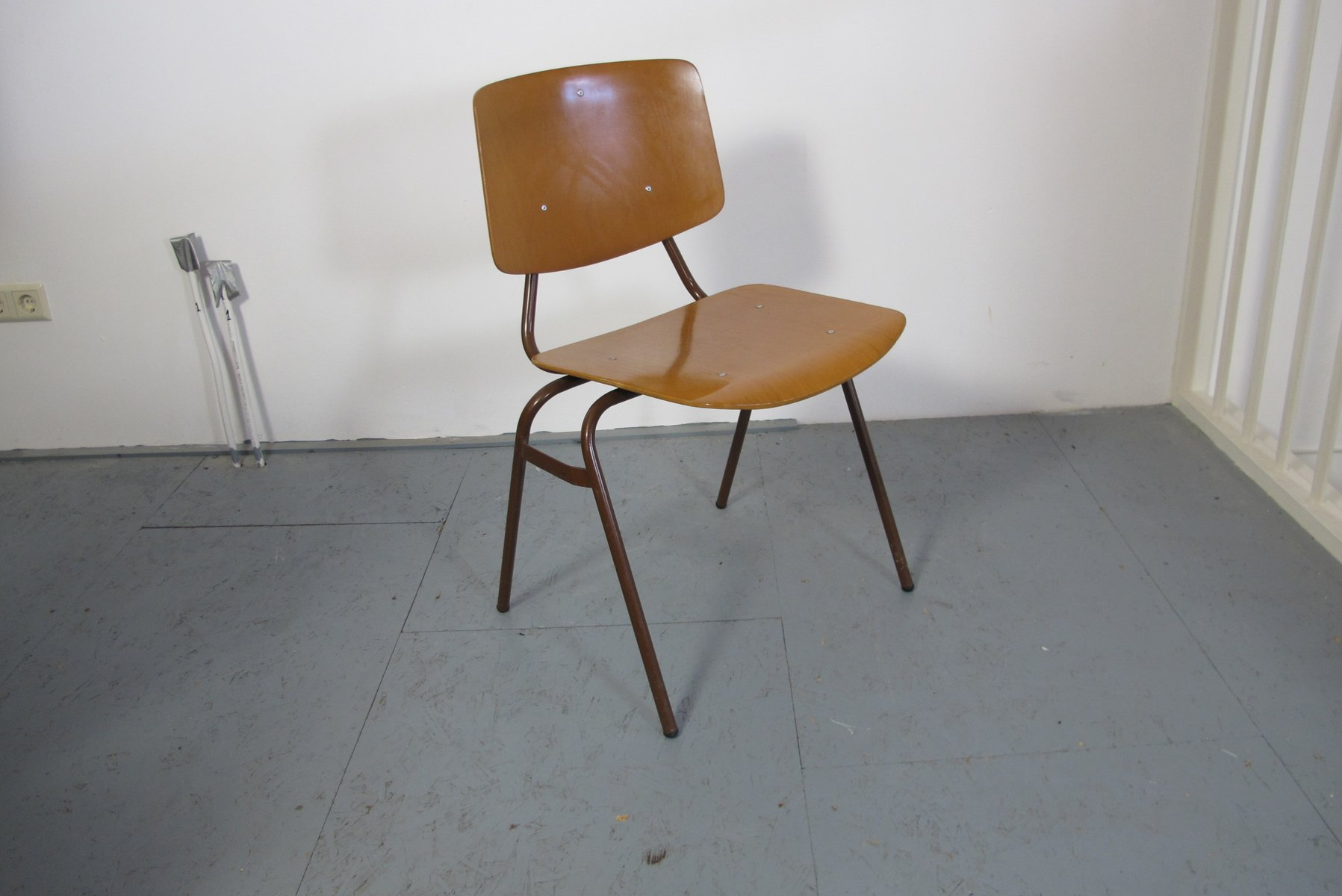 Vintage Industrial Chairs by Kho Liang Ie for Car Set of 4 for