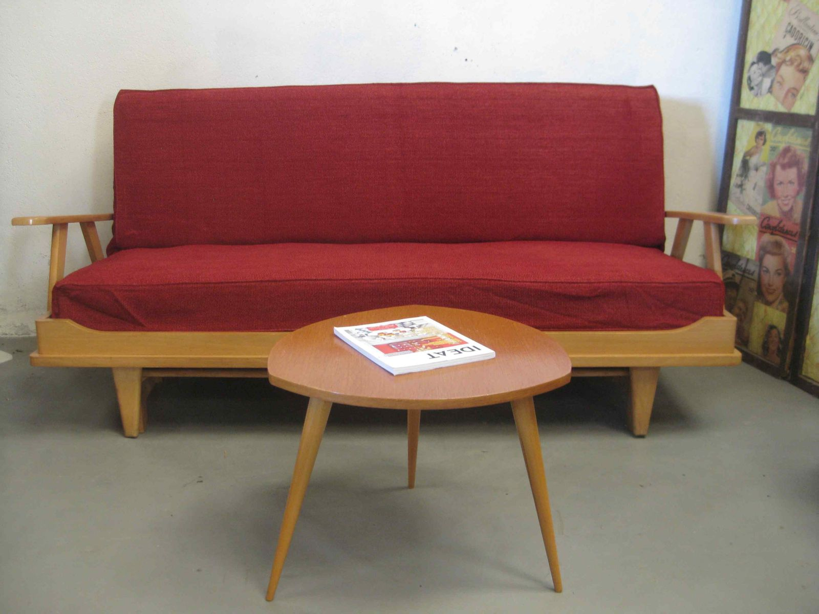 Mid Century Beech Sofa 1960s For Sale At Pamono