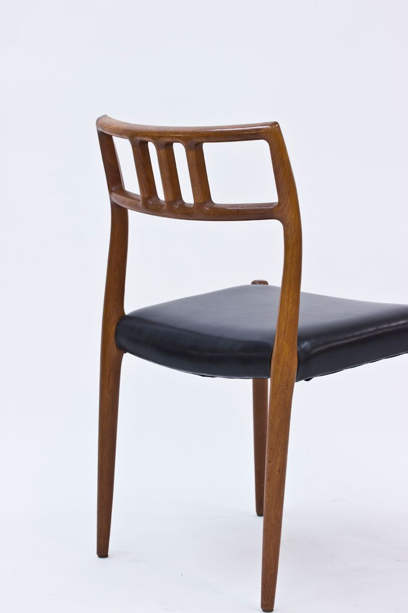Dining chairs by niels o m ller for j l m ller set of for Set of 6 dining chairs